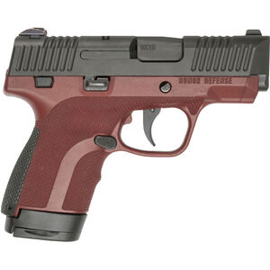 """Honor Guard Sub-Compact 9mm Luger Semi Auto Pistol 7 Rounds 3.2"""" Barrel Manual Safety Polymer Mahogany"""