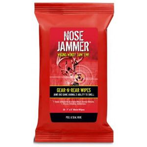 "Nose Jammer Gear-N-Rear Field Wipes 7""x6"" 20 Pack 3120"
