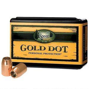 "Speer Gold Dot Personal Protection Handgun Bullets 9mm Caliber .355"" Diameter 147 Grain Gold Dot Hollow Point Projectile 100 Count Per Box"