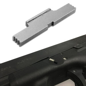 Bastion Gear Extended Slide Lock Lever Most GLOCK Models Gen 1-4 Stainless Steel Gray Finish