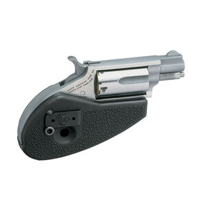 """North American Arms Mini Revolver Combo 22 WMR/22 LR 1.125"""" Barrel 5 Rounds Holster Grip Stainless Steel"""