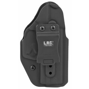 LAG Tactical Liberator MK II Series OWB/IWB Holster for Walther PK380 Models Ambidextrous Draw Kydex Construction Matte Black Finish
