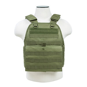 NcSTAR Plate Carrier Vest Size Med to 2XL Nylon Green