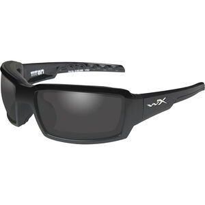 Wiley X Titan Eye Protection Polarized Smoke Grey Lens Black Gloss Frame