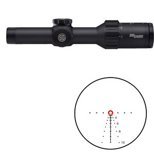 SIG Sauer Tango6T 1-6x24 Riflescope Illuminated 762 Extended Range Reticle 30mm Tube .20 MRAD Adjustments Fixed Parallax First Focal Plane CR2032 Battery Black