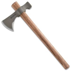 "CRKT Woods Chogan T-Hawk Tomahawk 4.21"" Blade Plain Edge Hammer Finish Carbon Steel Tennessee Hickory Handle 2730"