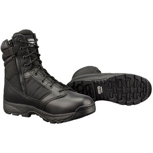 "Original S.W.A.T. WinX2 8"" Side Zip Men's Boot Size 5.5 Regular Thermoplastic Heel and Toe Non-Marking Sole Leather/Nylon Black 101201-55"