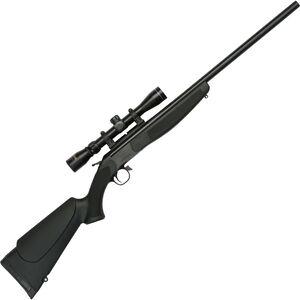 """CVA Hunter Outfit Single Shot Break Action Rifle .450 Bushmaster 25"""" Barrel Konus 3-9x32 Scope CrushZone Recoil Pad Synthetic Forend/Stock Matte Black Finish"""