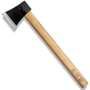 "Cold Steel Axe Gang Hatchet Fixed 4"" Plain Drop Forged 1055 Carbon Steel Blade American Hickory Handle 90AXG"