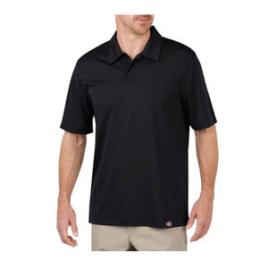 Dickies Men's WorkTech Short Sleeve Performance Polyester Polo Shirt Extra Large Black LS405BK