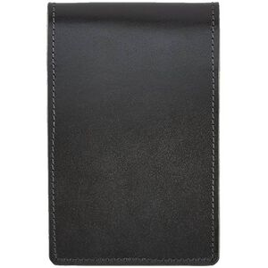 Aker Leather Notebook Cover Leather 4x7 Inches Black