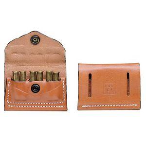 DeSantis 2x2x2 A08 .38/.357 Caliber Shell Pouch Ambidextrous Leather Tan
