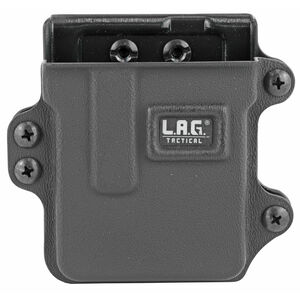 L.A.G Tactical Inc Single Rifle Magazine Carrier AR-15/AICS .223 Magazines Belt Clip Attachment System Kydex Construction Matte Black