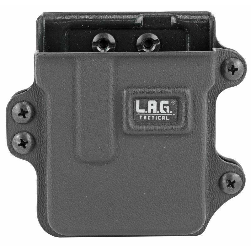 L.A.G Tactical Inc Single Rifle Magazine Carrier AR-15/AICS .223 Magazines Belt Clip Attachment System Kydex Construction Matte Black