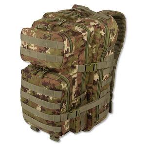 MIL-TEC Level I Assault Pack Vegetato Camouflage Heavy Duty 600 Denier Polyester Construction 14002242
