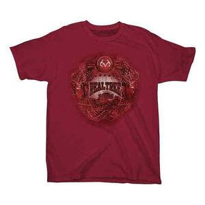 Realtree Youth's Badge Short Sleeve T Shirt Medium Cotton Cardinal