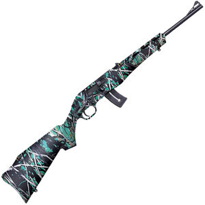 "Mossberg Blaze Semi Auto Rimfire Rifle .22 LR 16.5"" Barrel 10 Rounds Muddy Girl Serenity Synthetic Stock Blued Finish"