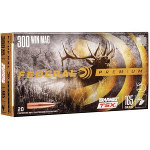 Ammo .300 Winchester Magnum Federal Vital-Shok Barnes Triple-Shock X 165 Grain Lead Free 20 Round Box 3050 fps