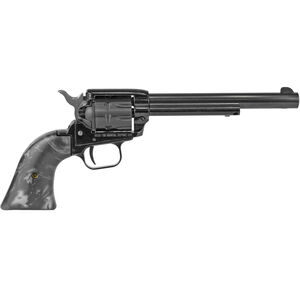 "Heritage Rough Rider .22 LR Single Action Rimfire Revolver 6.5"" Barrel 9 Rounds Black Pearl Synthetic Grips Blued"