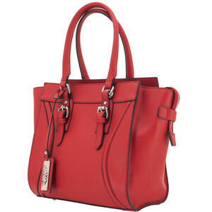 """Cameleon Aphaea Handbag with Concealed Carry Gun Compartment 10.5""""x10.5""""x7"""" Synthetic Leather Red"""