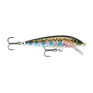 "Rapala Original Floating Lure 2.75"" Length 3'-5' Depth 2 Number 7 Treble Hooks Rainbow Trout"