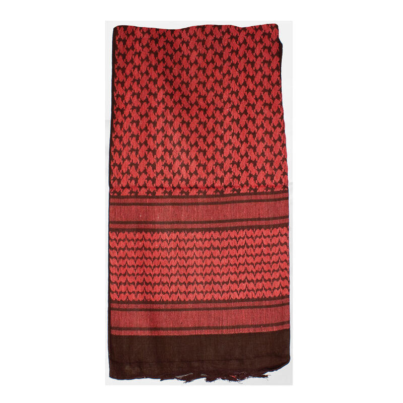 """Red Rock Gear Tactical Shemagh 42""""x42"""" 100% Cotton Red and Black"""