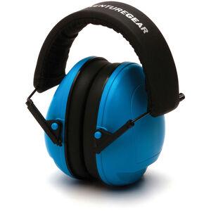 Pyramex Safety Products VG9011 Youth Ear Muff Foldaway Headband 19dB NRR Blue VGPM9011C