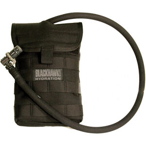 BLACKHAWK! Side Hydration Pouch MOLLE Compatible Nylon Black