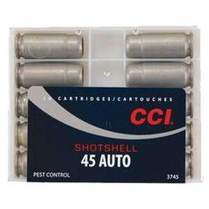 CCI .45 ACP Shotshell Ammunition 10 Rounds #9 Shot 120 Grains