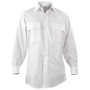 "Elbeco Paragon Plus Men's Long Sleeve Shirt Neck 17.5 Sleeve 33"" Polyester Cotton White"