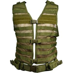 NcSTAR PAL Modular Vest MOLLE Compatible with Pistol Belt Size med to 2XL Nylon Green