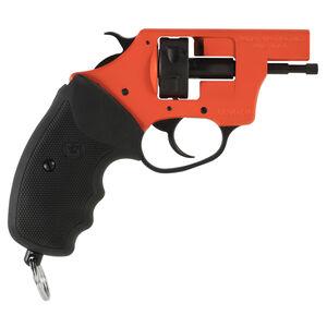 Charter Arms Starter Pistol Pro 209 Primer Ignition System 6 Round Cylinder Exposed Hammer Black Rubber Grips Orange Frame