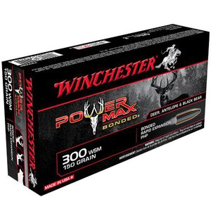 Winchester Power-Max .300 WSM Ammunition 20 Rounds 150 Grain Bonded PHP 3270fps
