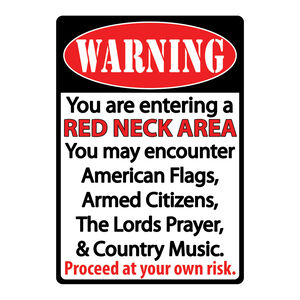 """Rivers Edge Products """"Redneck Zone"""" Tin Sign, 12""""x17"""", 1518"""