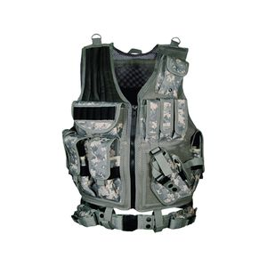 Leapers UTG Law Enforcement Unit Vest Right Handed Includes Mag Pouches Holster Gear Pouches Pistol Belt Army Digital