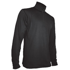 XGO Phase 4 Performance DWR 1/4 Zip Mock Turtleneck Small 86%/14% Polyester/Spandex Black
