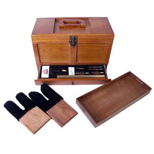 DAC GunMaster Wooden Tool Box with 17 Piece Universal Gun Cleaning Kit TBX736-1
