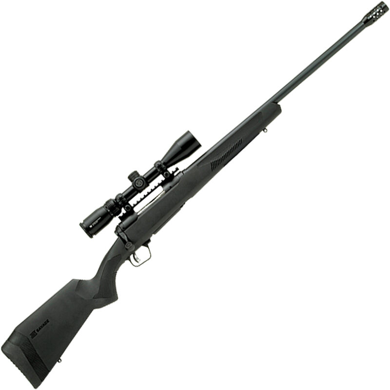 """Savage 110 Apex Hunter XP .450 Bushmaster Bolt Action Rifle 22"""" Barrel 3 Rounds with Muzzle Brake and 3-9x40 Scope Synthetic Stock Black Finish"""