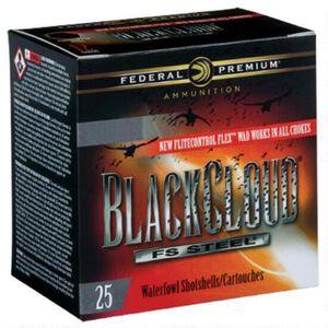"Federal Black Cloud FS Steel 10 Gauge Ammunition 250 Rounds 3-1/2"" BB Steel Shot 1-5/8 Ounce Flitecontrol Flex Wad 1375fps"