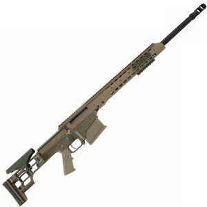 "Barrett Firearms Manufacturing MRAD Bolt Action Rifle .338 Lapua Magnum 24"" Fluted Barrel 10 Rounds Folding Stock Tan CeraKote Finish 14374"