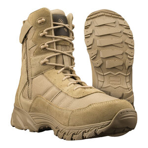 "Original S.W.A.T. Men's Altama Vengeance Side-Zip 8"" Tan Boot Size 10.5 Regular 305302"