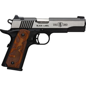 "Browning 1911-380 Black Label Medallion .380 ACP Semi-Auto Pistol 4.25"" Barrel 8 Rounds Logo Grips Polymer Frame Bi-Tone"