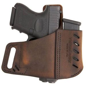 VersaCarry Commander OWB Holster With Mag Carrier Size 1 Right Hand Leather Brown 6220365