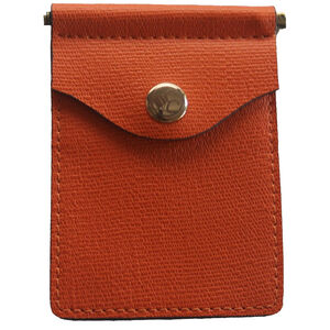 Concealed Carrie Compact Wallet RFID Protected Leather Pumpkin