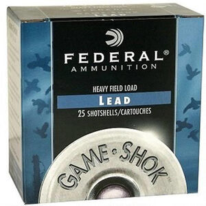 "Federal 12 Gauge Ammunition 250 Rounds 2.75"" #6 Lead 1.25 oz"