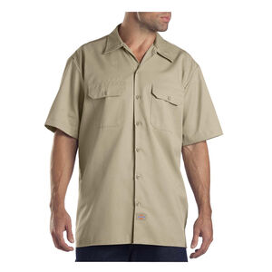 Dickies Men's Twill Work Shirt Small Regular Khaki 1574KH