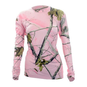 Medalist Women's Huntgear Long Sleeve Insulating Shirt Polyester/Spandex Small Pink Camo M5805RTPCS