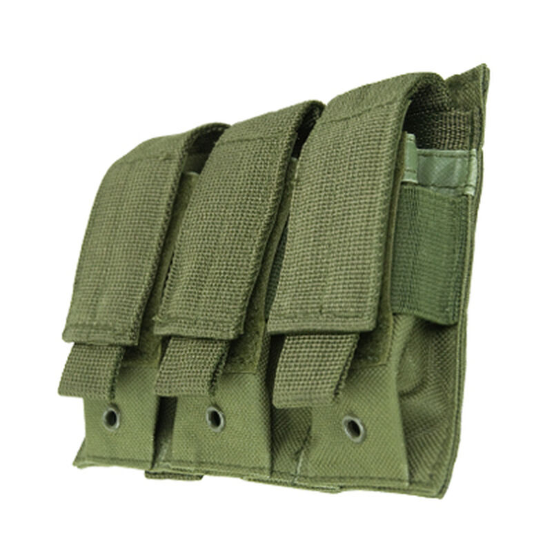 NcSTAR Triple Pistol Magazine Pouch Double Stack Magazines Green
