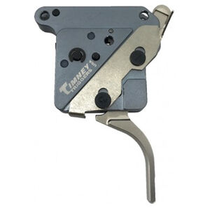 """Timney Trigger Remington 700 """"The Hit"""" Trigger Drop In Replacement Trigger Adjustable Pull Weight Straight Trigger Shoe Aluminum Housing Nickel Finish"""