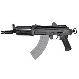 "Arsenal SAM7K AK-47 7.62x39mm Semi Auto Pistol 10.5"" Barrel 5 Rounds Milled Receiver Rear Vertical Picatinny Rail Matte Black"